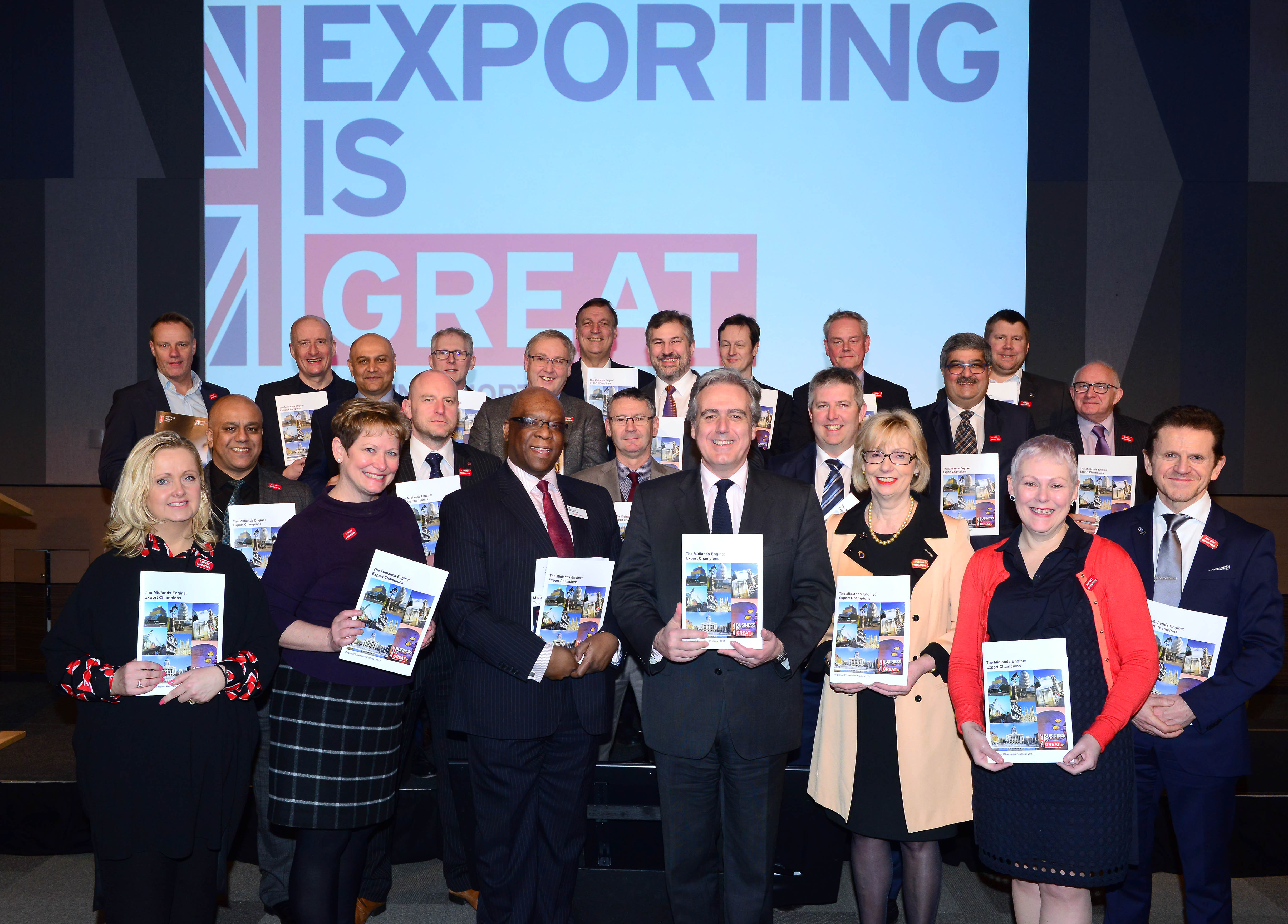 Forensic Pathways CEO Deb Leary OBE (bottom right) as Export Champion